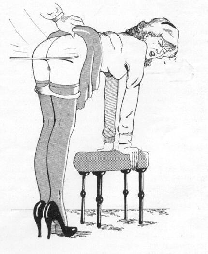 Adult spanking position