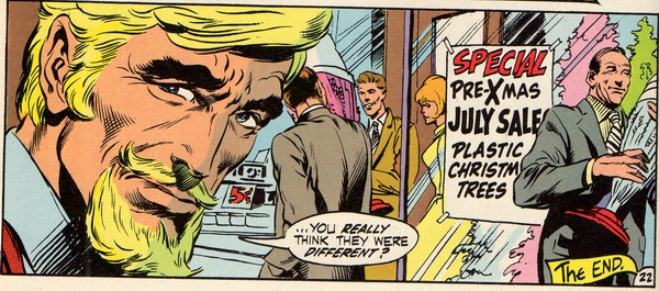 green arrow moans about plastic christmas trees