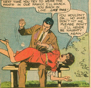 spanking panel from career girl romances #45
