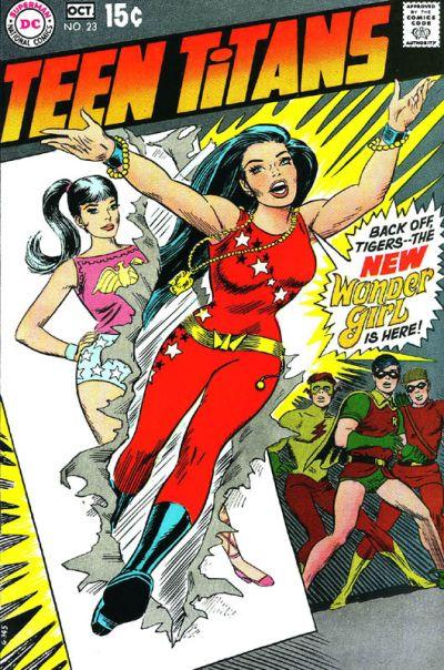 wonder girl on cover of teen titans #23