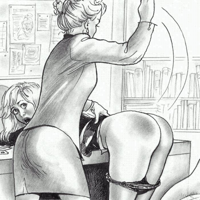 drawings Paula spanking