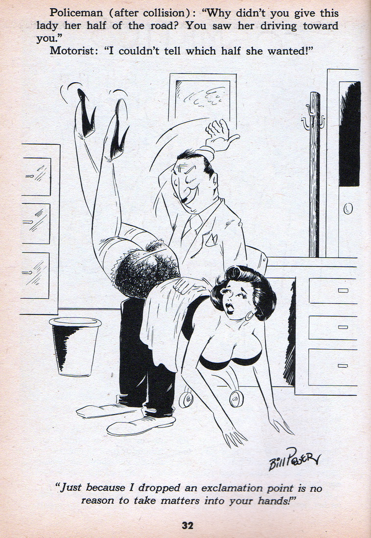 Secretary bending over cartoon
