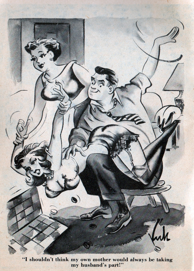 Man spanked by wife